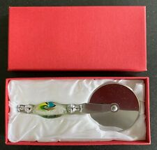 New, Unused, Pizza Cutter with coloured glass handle, in original box