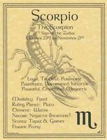 Scorpio (Zodiac) Parchment for Book of Shadows Page, Altar!