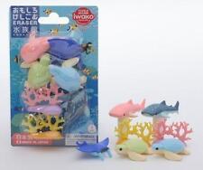 Iwako Japanese Aquarium Under the Sea Eraser Set S-3873