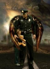 The Difference Between Us and Them by Jason Bullard Police Officer, Print 12X16
