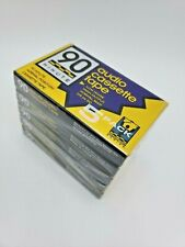A-38665 5 Pack 90 Minute Extra Quality Audio Cassettes New Sealed Mix Tapes