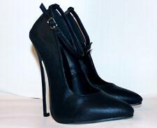 High Heel Pointed Toe 6in Stiletto Pumps Women's Black US11