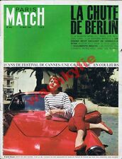 Paris Match 892 14/05/1966 festival Cannes BB Bardot Boumedienne Stone Berlin 45