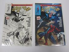 AMAZING SPIDERMAN #8 STAN LEE AUTO BLACK CAT VARIANT COLOR B&W J SCOTT CAMPBELL