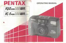 Pentax IQ Zoom 105WR 105WRDate Camera Operation Owner's Instruction Manual