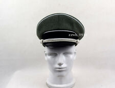 WWII German Elite Officer Wool Hat&Cap W White Pipe Silver Chin Cord