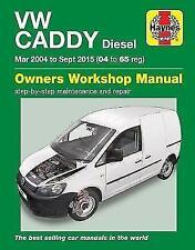 Haynes Manual Volkswagen VW Caddy Diesel Mar 2004 to Sept 2015 NEW 6390