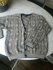 Bachrach Tribal Geometric Cardigan Sweater Sz Xl