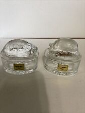 2 luminarc lidded trinket boxes. hedgehog and turtle