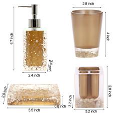 gold bath accessory sets ebay. Black Bedroom Furniture Sets. Home Design Ideas