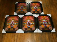 kiss psycho circus commemorative poster lot 5 piece pieces framed vintage