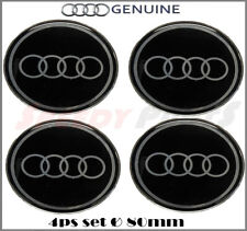 Car Wheel Center Hub Caps Sticker Emblem Badge For AUDI 80 mm / 3.14 inches
