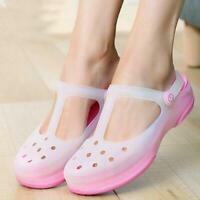 Comfortable Women Students Flat Sandals Female Pumps Jelly Beach Soft Hole Shoes
