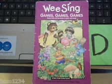 1998 WEE SING GAMES GAMES GAMES SONGBOOK 60+ FAVORITES TO PLAY & SING PIANO ++