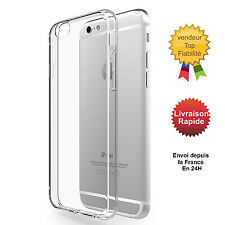 COQUE ETUI HOUSSE LUXE IPHONE 6/6S /5/SE /7/7PLUS EN GEL SILICONE TRANSPARENT
