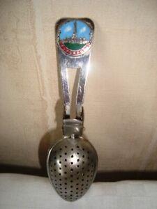 Vintage Souvenir Tea Infuser Blackpool Blackpool Tower Chrome Plated