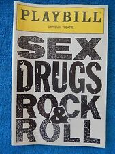 Sex, Drugs, Rock & Roll - Orpheum Theatre Playbill - May 1990 - Eric Bogosian