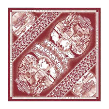 Harley-Davidson® Men's Death Valley Maroon White Bandana Head-wrap 24x24 BA26687