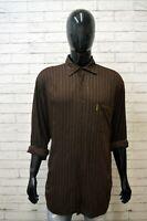 Camicia Uomo ARMANI JEANS Taglia 3XL Polo Camicetta Manica Lunga Shirt Men Righe