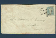 US COVER WITH CONFEDERATE STAMP #11 SENT TO MADISON GEORGIA