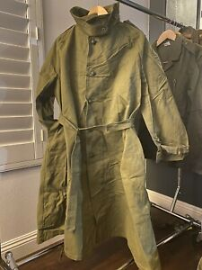 French Military Motorcycle Trench coat