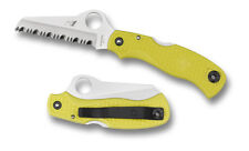 Couteau Spyderco Saver Salt Yellow Acier H1 Manche FRN Yellow Japan SC118SYL