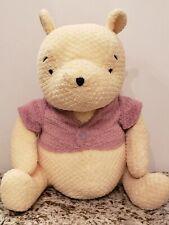 "Disney Winnie the Pooh Bear Plush Stuffed Waffle Quilted Nursery 15"""