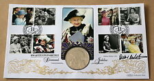 DIAMOND JUBILEE 20012 BENHAM FDC + FALKLANDS CROWN COIN SIGNED BY DICKIE ARBITER