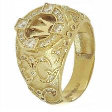 Ring Wedding Xmas Gift Size 6-13 Us Fashion Punk Men's Gold White Sapphire Crown