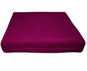 mb61t Magenta Berry Flat Velvet Style 3D Box Thick Sofa Seat Cushion Cover*Size