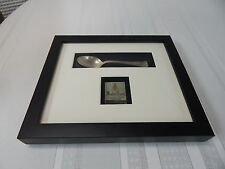 Vintage! Framed and Matted Mayfair House Philadelphia Pa. Tea Spoon/Match Book