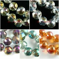 10pcs Lampwork Faceted Round Glass Crystal Beads Loose Spacer Findings 20mm#G