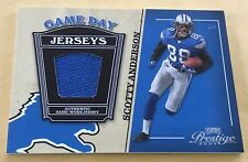 2004 Donruss Playoff Football Scotty Anderson Game-Used Jersey Card