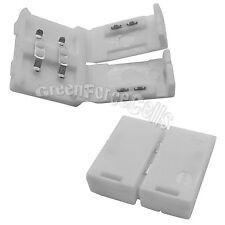 50 pcs 10mm Solderless Clip-on Connector Adaptor For Single 3528 LED Strip Light