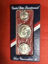 1976 U.S. Mint (3pc. SILVER) Bicentennial Uncirculated Set S#47