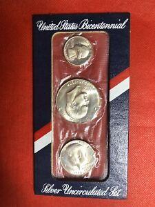1976 U.S. Mint (3pc. SILVER) Bicentennial Uncirculated Set S#47