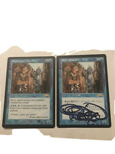 Mtg 2x ertai wizard adept Japanese signed and French