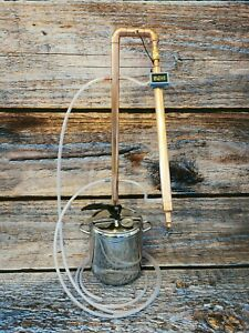 Copper Distiller with reflux 9l 28mm diameter Pot Still  moonshine spirits