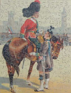 Vintage 206 piece, solid wooden jigsaw puzzle.