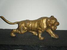"Vintage brass tiger 7.5"""