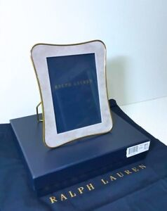 """RALPH LAUREN COLLECTION VAUGHN MAUVE PICTURE FRAME 5"""" X 7"""" MADE IN INDIA"""