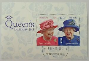 AUSTRALIA 2015 QUEENS BIRTHDAY MINIATURE SHEET minisheet inc international stamp