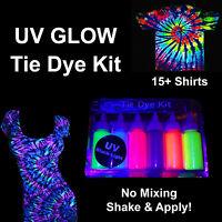 UV NEON GLOW Tie Dye Kit Tye Dye Up 20+ UV Tulip & UV Neon Artistic Den