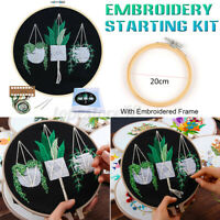 🔥DIY Cross Stitch Kit Plants Pattern Embroidery Starting Kit Craft Threads  ❀