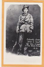 Real Photo Postcard RPP - Calamity Jane Scout for General Crook Black Hills SD