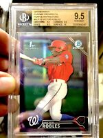 2016 Victor Robles Bowman Chrome Purple Refractor /250 rookie 9.5 high sub 🔥