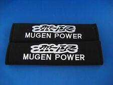 2 x MUGEN POWER Seat Belt Shoulder Cover Pads EMBROIDERED LOGO for Car Interior