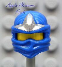 NEW Lego Ninjago Ninja BLUE HEAD WRAP - ZX Jay Minifig Headwrap Hood Hat Gear