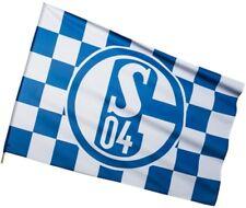 Stockflagge Stockfahne FC Schalke 04 Karo - 60 x 90 cm
