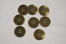 8pc 15mm Antique Gold Brass Metal Coat Blazer Cardigan Knitwear Button 3563
